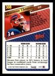1993 Topps #308  Thurman Thomas  Back Thumbnail