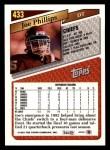 1993 Topps #433  Joe Phillips  Back Thumbnail
