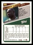 1993 Topps #381  Marvin Jones  Back Thumbnail