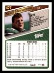 1993 Topps #427  Scott Mersereau  Back Thumbnail