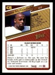 1993 Topps #436  Dana Stubblefield  Back Thumbnail