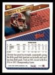 1993 Topps #361  Steve Christie  Back Thumbnail