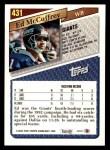 1993 Topps #431  Ed McCaffrey  Back Thumbnail