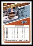 1993 Topps #347  Dennis Smith  Back Thumbnail