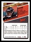 1993 Topps #344   -  Tony Smith Record Breaker Back Thumbnail