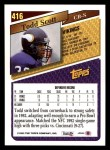 1993 Topps #416  Todd Scott  Back Thumbnail