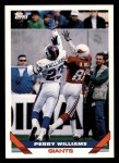 1993 Topps #373  Perry Williams  Front Thumbnail