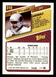 1993 Topps #310  Eric Swann  Back Thumbnail