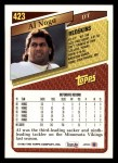 1993 Topps #423  Al Noga  Back Thumbnail