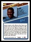 1993 Topps #402  Lomas Brown  Back Thumbnail