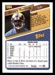 1993 Topps #584  Henry Rolling  Back Thumbnail