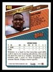 1993 Topps #488  Larry Webster  Back Thumbnail