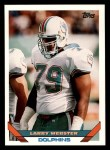 1993 Topps #488  Larry Webster  Front Thumbnail