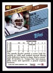 1993 Topps #467  John Baylor  Back Thumbnail