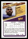 1993 Topps #639  Terry Allen  Back Thumbnail