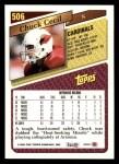 1993 Topps #506  Chuck Cecil  Back Thumbnail