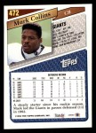 1993 Topps #472  Mark Collins  Back Thumbnail