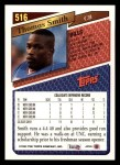 1993 Topps #516  Thomas Smith  Back Thumbnail