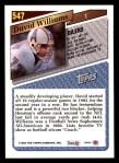 1993 Topps #547  David Williams  Back Thumbnail