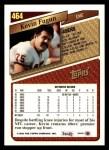 1993 Topps #464  Kevin Fagan  Back Thumbnail