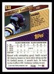 1993 Topps #538  Robert Smith  Back Thumbnail