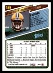 1993 Topps #469  Wayne Simmons  Back Thumbnail