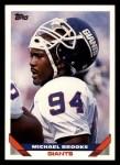 1993 Topps #499  Michael Brooks  Front Thumbnail