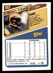 1993 Topps #557  Henry Ellard  Back Thumbnail