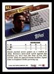 1993 Topps #653  Derek Brown  Back Thumbnail