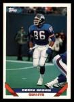 1993 Topps #653  Derek Brown  Front Thumbnail