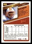 1993 Topps #494  Demetrius DuBose  Back Thumbnail