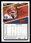 1993 Topps #541  Darryl Talley  Back Thumbnail