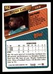 1993 Topps #552  Bryan Cox  Back Thumbnail