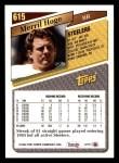 1993 Topps #615  Merril Hoge  Back Thumbnail