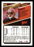 1993 Topps #643  Jeff Query  Back Thumbnail