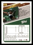 1993 Topps #638  James Thornton  Back Thumbnail