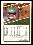 1993 Topps #563  Bubby Brister  Back Thumbnail