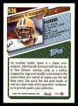 1993 Topps #536  James Campen  Back Thumbnail