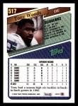 1993 Topps #517  Tony Woods  Back Thumbnail