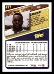 1993 Topps #477  Natrone Means  Back Thumbnail