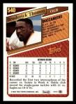 1993 Topps #540  Broderick Thomas  Back Thumbnail