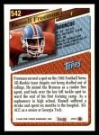1993 Topps #542  Russell Freeman  Back Thumbnail