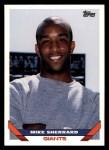 1993 Topps #625  Mike Sherrard  Front Thumbnail