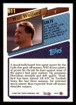 1993 Topps #611  Will Wolford  Back Thumbnail