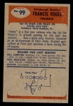 1955 Bowman #99  Fran Rogel  Back Thumbnail
