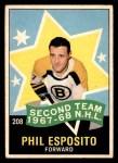 1968 O-Pee-Chee #208   -  Phil Esposito All-Star Front Thumbnail