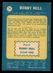 1969 O-Pee-Chee #70  Bobby Hull  Back Thumbnail
