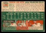 1954 Topps #108  Thornton Kipper  Back Thumbnail