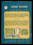 1969 O-Pee-Chee #4  Serge Savard  Back Thumbnail