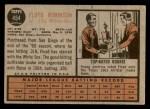 1962 Topps #454  Floyd Robinson  Back Thumbnail